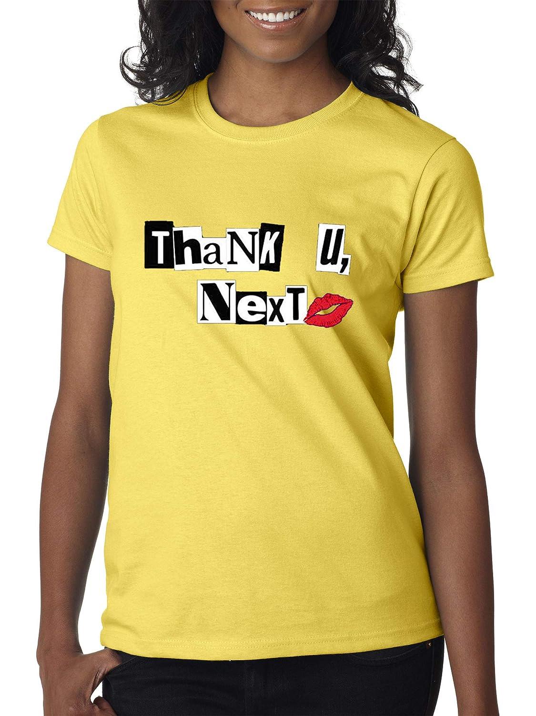 Daisy Yellow Trendy USA 1203  Women's TShirt Thank U Next Lips Kiss Dating