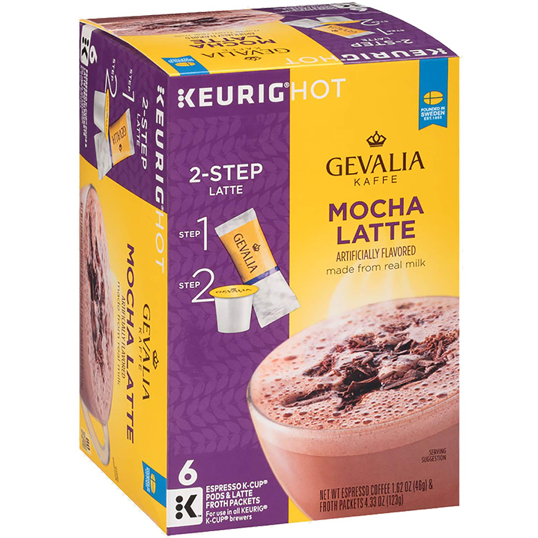 Amazon Com Gourmet Barista Mocha Cappuccino Mix 48 Oz: Gevalia Peppermint Mocha Latte Espresso K Cup Pods And