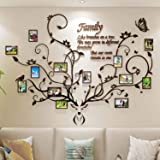 DecorSmart Antlers Family Tree Wall Decor for Living Room, 3D Removable Picture Frame Collage DIY Acrylic Stickers with Deer