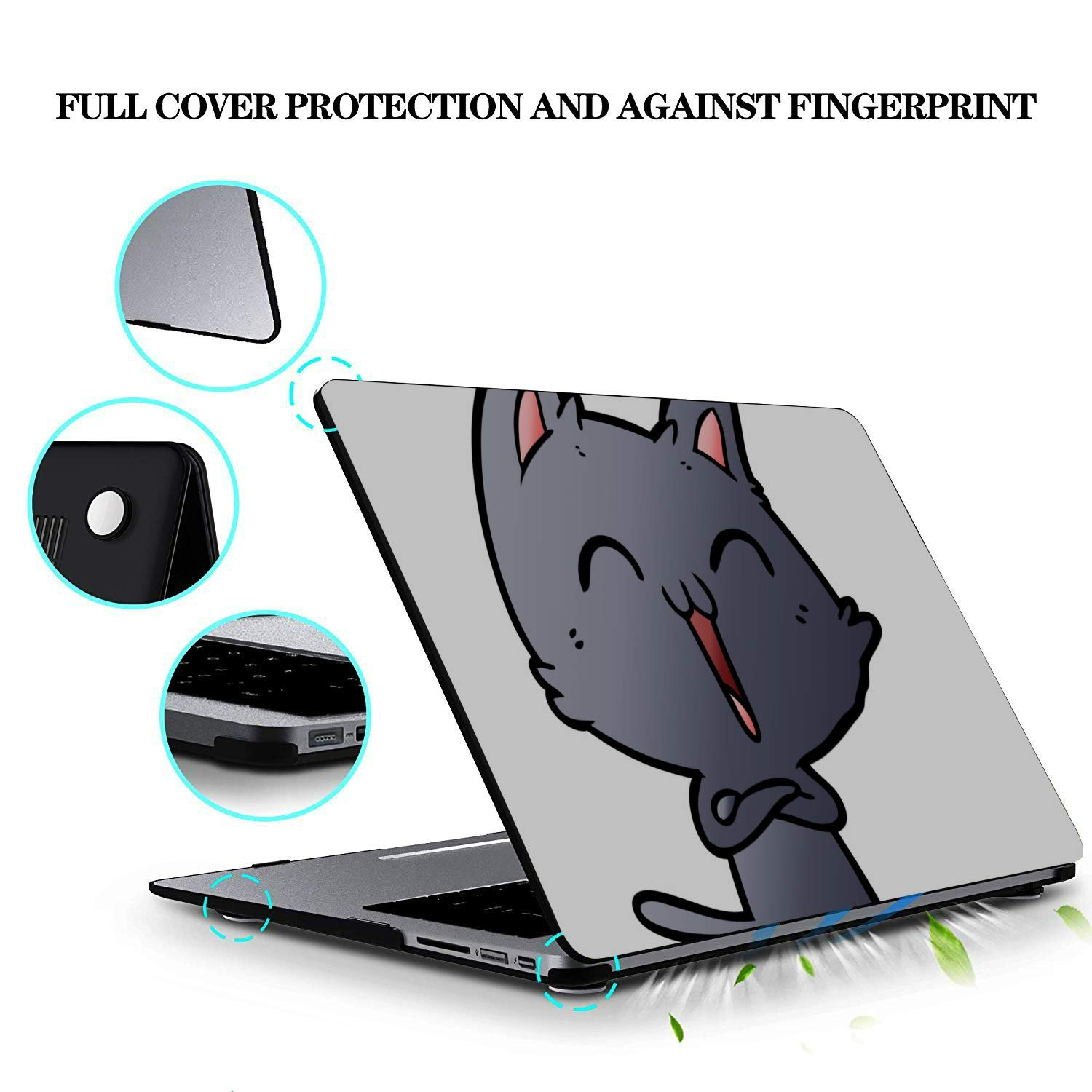 Case MacBook Pro 13 Cat Singing Music Singer Meowing Plastic Hard Shell Compatible Mac Air 11 Pro 13 15 MacBook Pro Laptop Protection for MacBook 2016-2019 Version