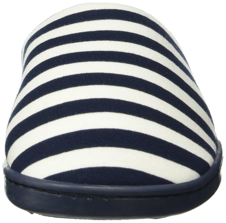 Mu1 - Stripes Slprs - Tongs Femme, Bleu (Marine Blue), Taille SWomen'secret
