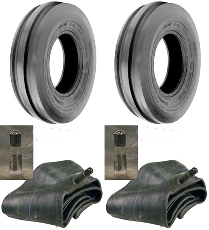 LOT OF TWO (2) 4.00-15 4.00x15 Tri Rib (3 Rib) Tires with Tubes Tire Geek