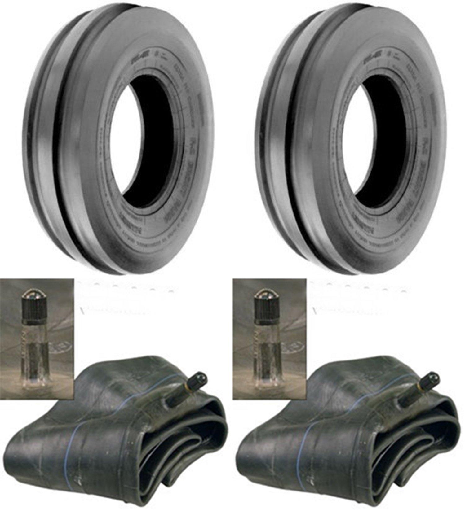 LOT OF TWO (2) 4.00-19 4.00x19 Tri Rib (3 Rib) Tires with Tubes
