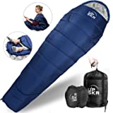 UPSKR Sleeping Bag Lightweight & Waterproof for Adults & Kids Cold Weather, 3-4 Season Mummy Sleeping Bags Great for Indoor &