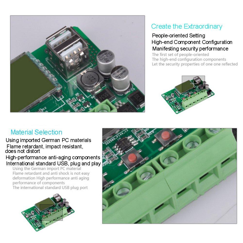 R/égulateur de contr/ôleur de charge du panneau solaire Anti-Lightning Commandeur de sortie /étanche et directe pour 10A 12 24V 120 240W Protection de la batterie de la rue