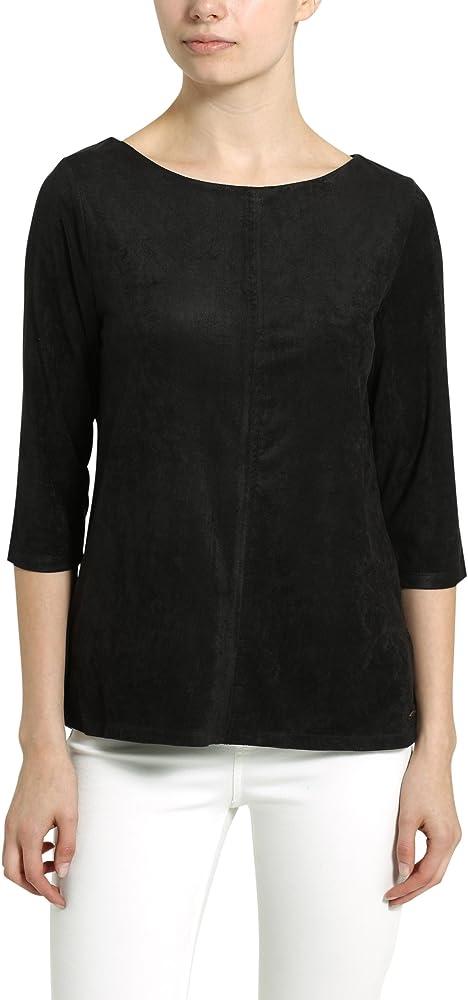 Berydale Camiseta de mujer con mangas tres cuartos, Negro, XS: Amazon.es: Ropa y accesorios