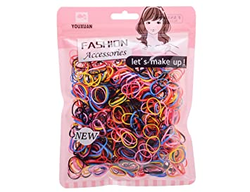 Youxuan Girls Elastics Hair Ties No-snag Colored Cute Hair Bands 1000  Counts  Amazon.ca  Beauty c87a38309b8