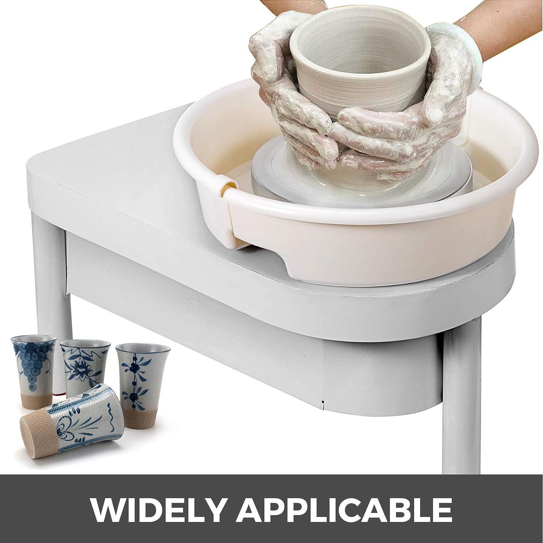 BananaB 350W Electric Pottery Wheel Ceramic Machine 25cm Keramik Radmaschine 220V Ceramic Wheel Machine Radmaschine DIY mit Fu/ßpedal und abnehmbarem Becken