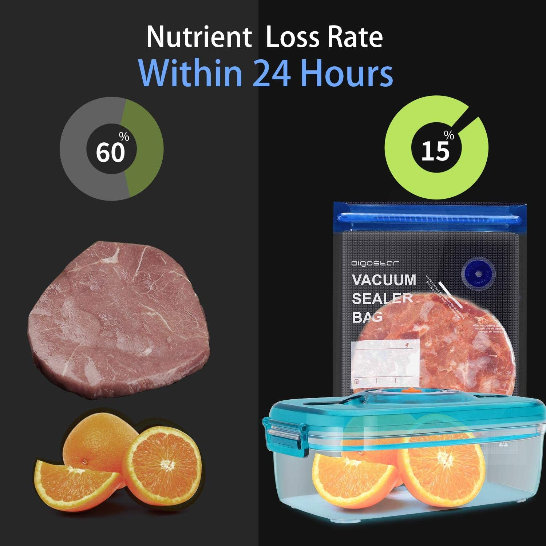micro-ondes et cuisini/ère sous vide 30 sacs sous vide r/éutilisables sans BPA Valve pour pompe scelleuse et fermeture par zip Apte cong/élateur 10 de chaque taille Aigostar