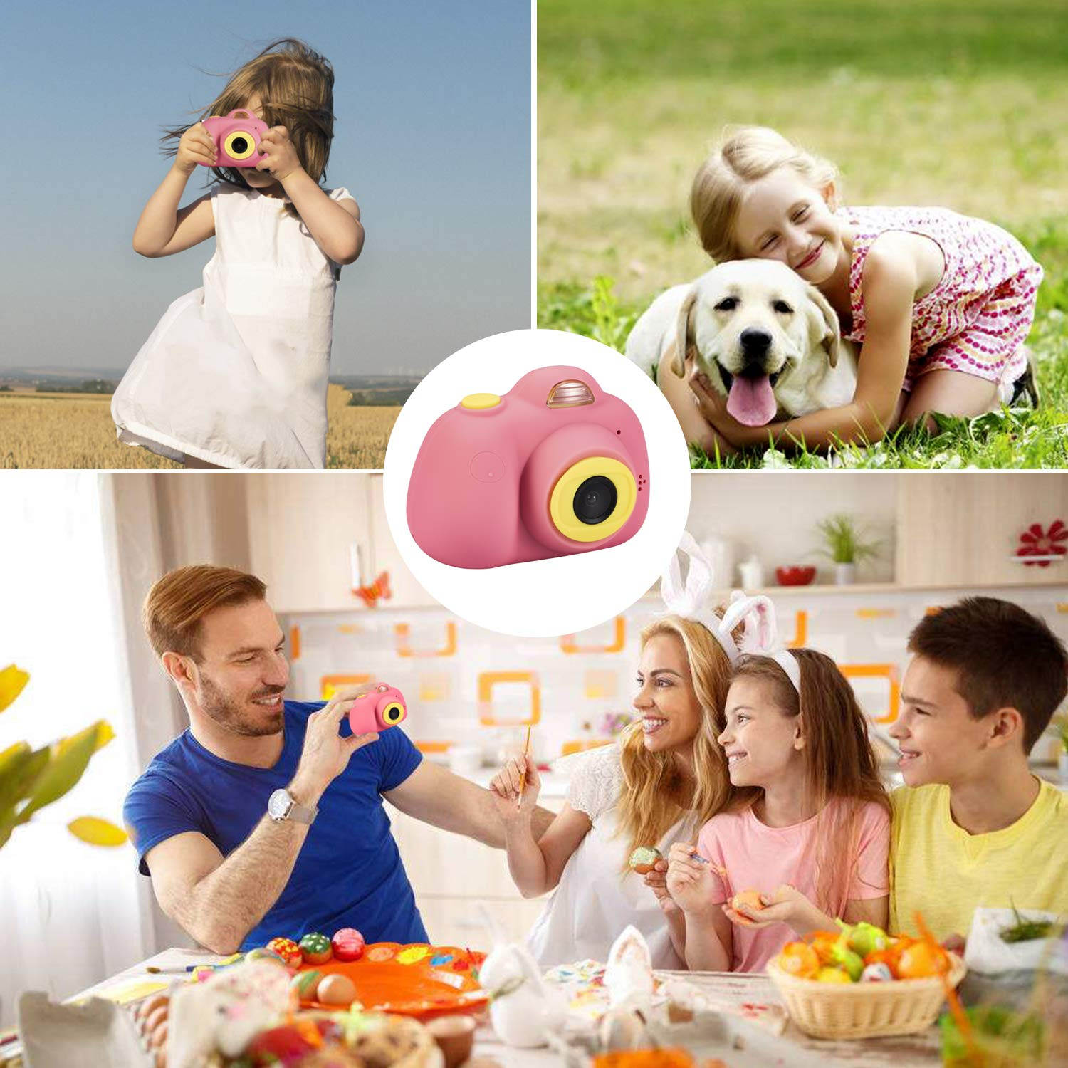 omzer Gift Kids Camera Toys for Girls, Cute Children Cameras Mini Camcorder for 3-8 Years Old Girl with 8MP HD Video Lens Great for Shooting, Deep Pink(16GB Memory Card Included) by omzer (Image #7)