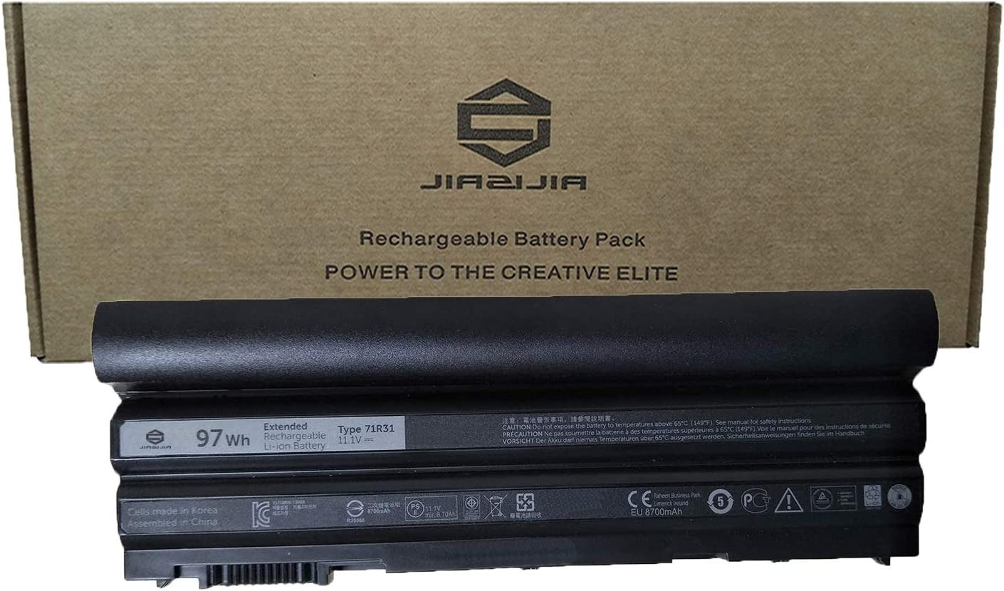 JIAZIJIA 71R31 Laptop Battery Replacement for Dell Latitude E5420 E5430 E5520 E5530 E6420 E6430 E6440 E6520 E6530 E6540 Series Notebook Extended 11.1V 97Wh 8700mAh 9-Cell