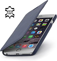 StilGut housse Book Type sans clip, en cuir pour iPhone 6s Plus (5.5 pouces), bleu marine