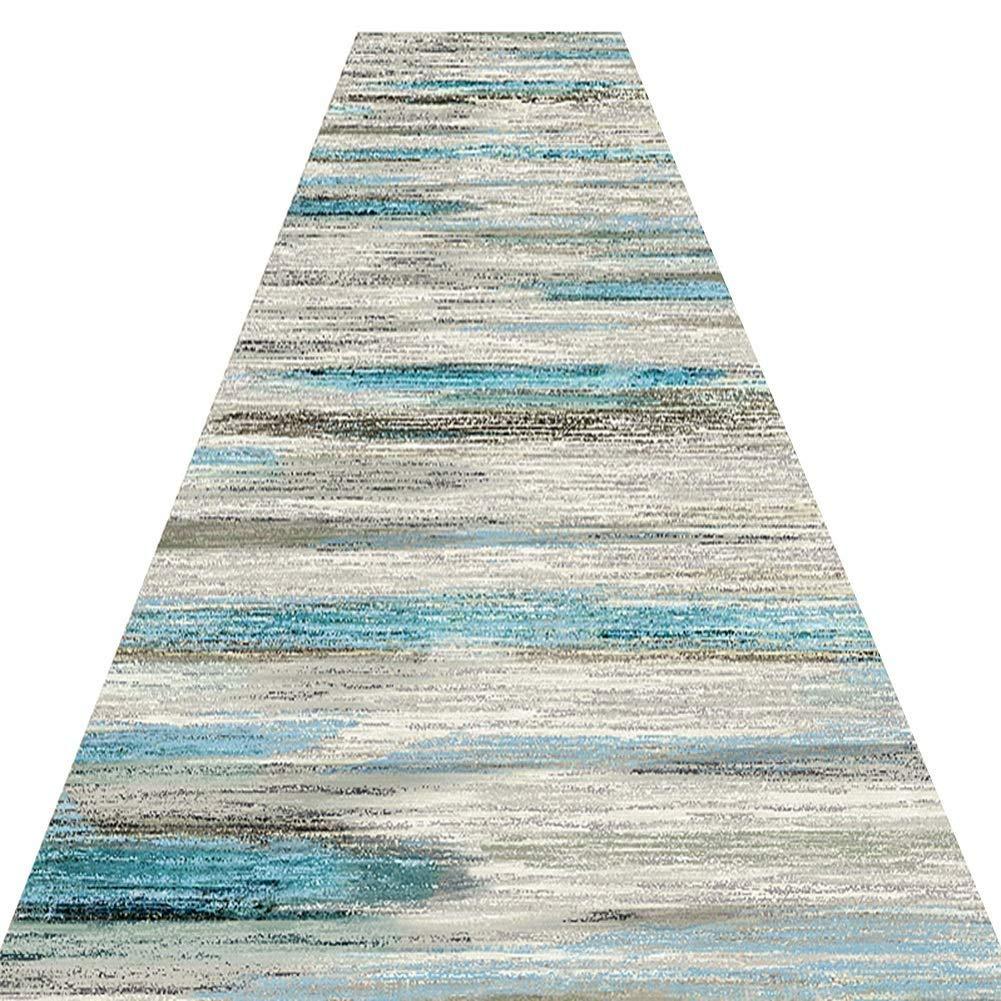 FINLR-Alfombras para Pasillos Largos Alfombra Pasillo Pasillera Dise/ño Abstracto Pila Densa Suave Resistente A Las Manchas Largo Cuttable M/últiples Tama/ños Personalizable