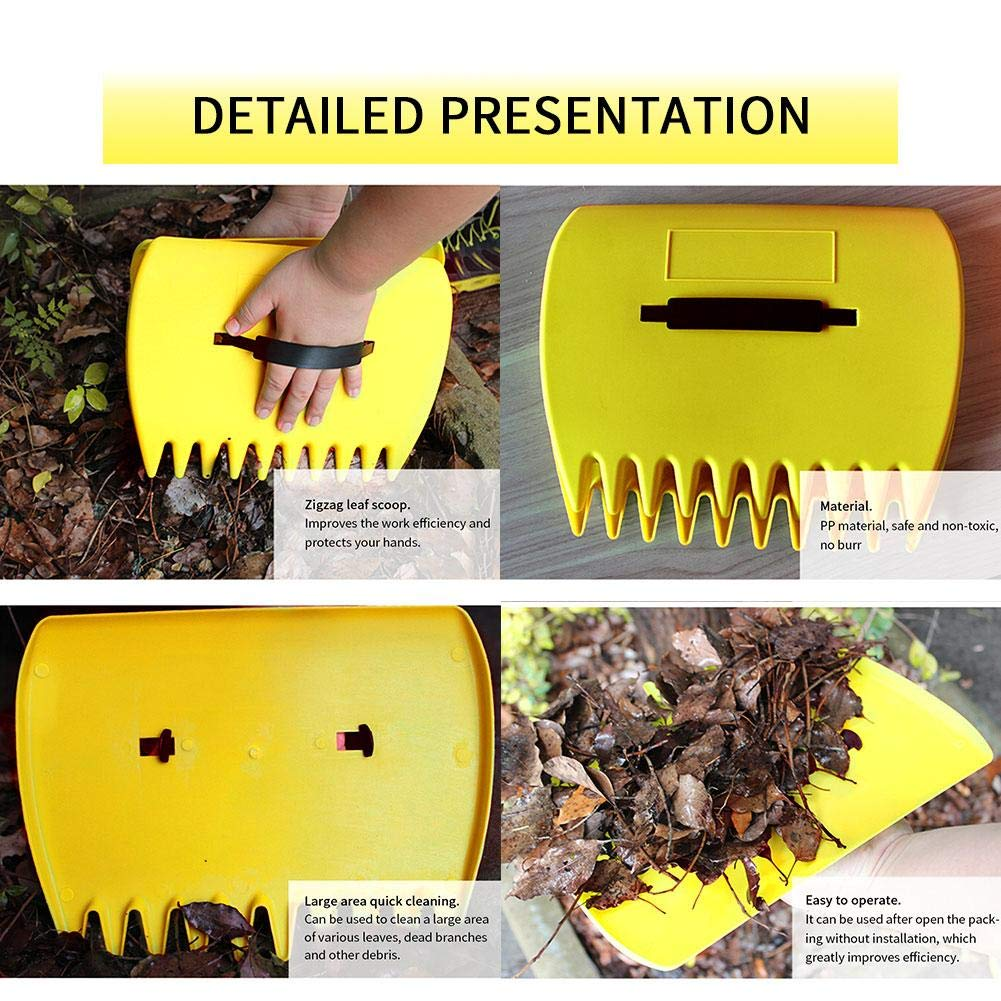 Plastic Garden Hand Rakes Collect Leaves Grass Grabber Scoop healingpie Plastic Leaf Scoops Clean Your Yard Fast /& Easy Set of 2 Scoop Leaf Collector