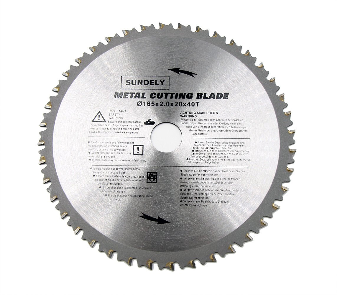 Amazon sundely tct circular saw blade 165 mm x 20 mm x 40t 65 amazon sundely tct circular saw blade 165 mm x 20 mm x 40t 65 x 078 for metal steel car electronics greentooth Image collections