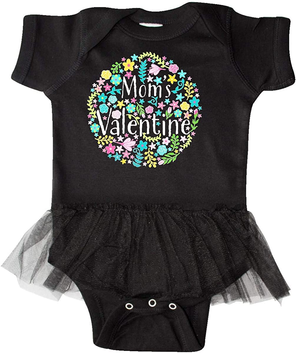 inktastic Moms Valentine with Flower Circle Infant Tutu Bodysuit