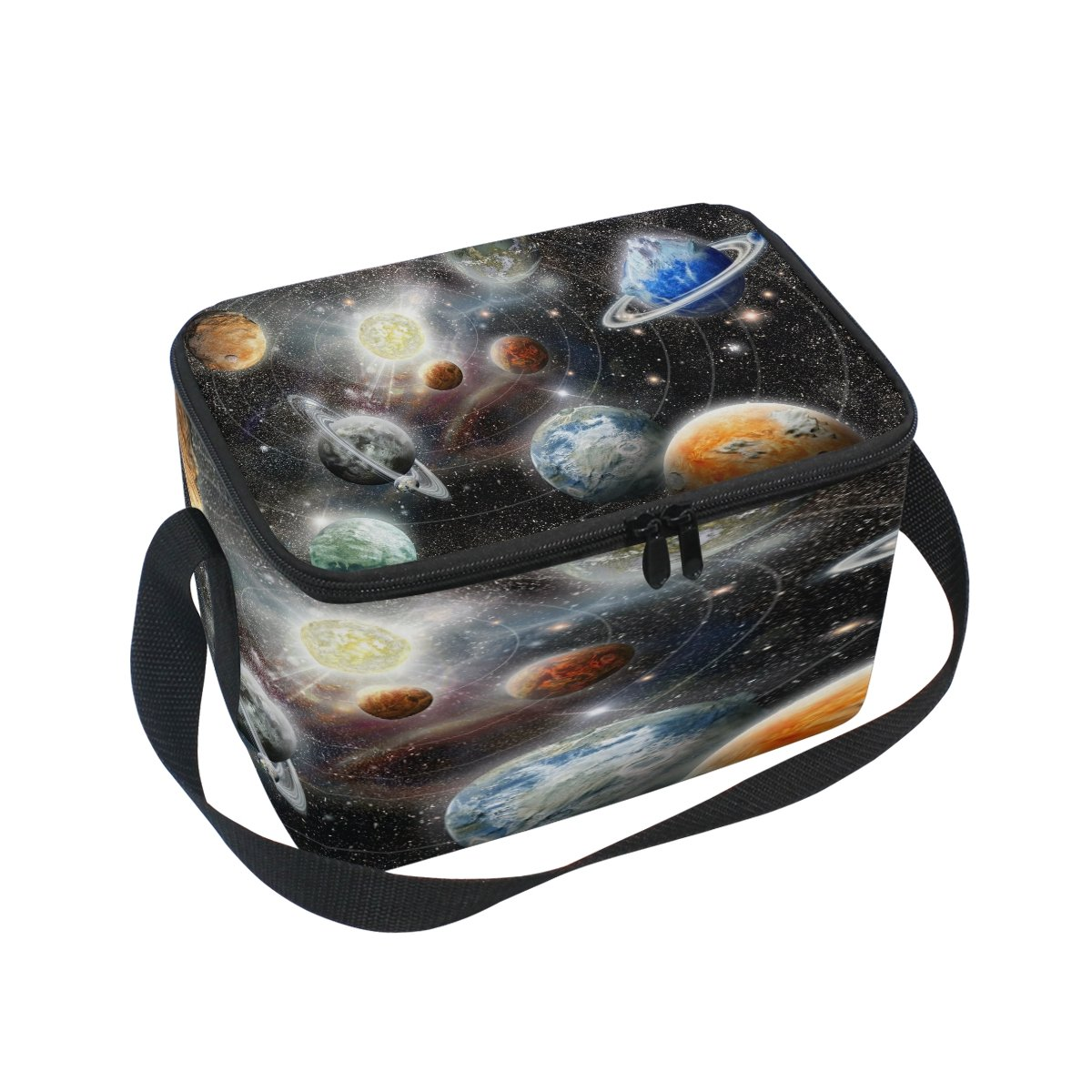Use4 Space Solar System Universe Star Insulated Lunch Bag Tote Bag Cooler Lunchbox for Picnic School Women Men Kids