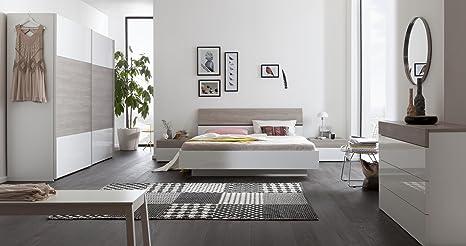 Composizione per camera da letto matrimoniale color bianco laccato e ...