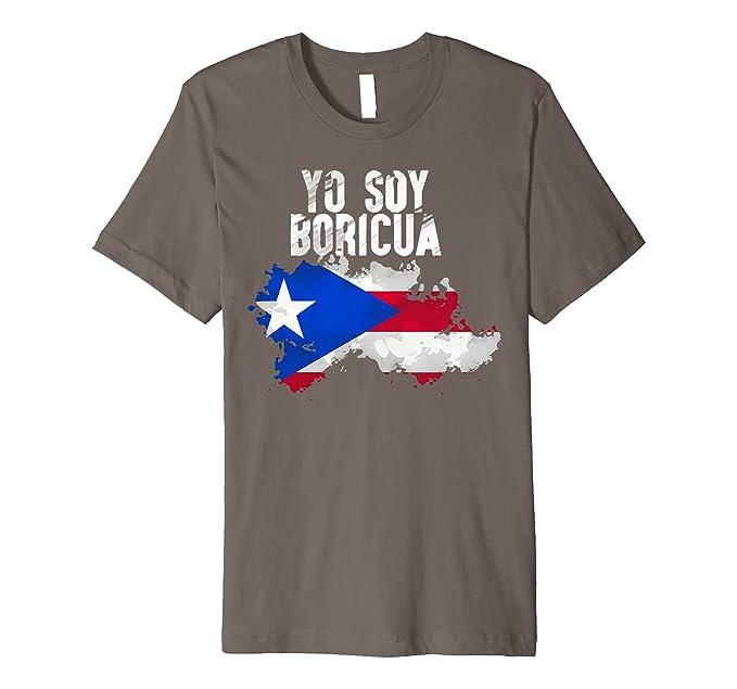 Mens La Borincana(Puerto Rico T shirt-Camisa) 2XL Asphalt