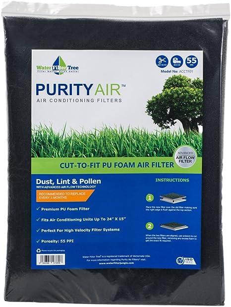 Aqua-Flo Cut to Fit AC Furnace Premium Washable Reusable Air Filter 16x 20x 1