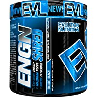 Evlution Nutrition ENGN Shred Pre Workout Thermogenic Fat Burner Powder, Energy, Weight Loss, 30 Servings (Blue Raz)