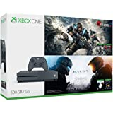 Microsoft Xbox One S 500GB Console - Gears of War & Halo Special Edition Bundle