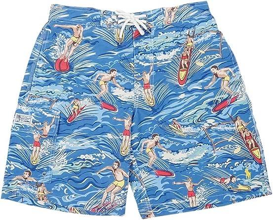 $85 Polo Ralph Lauren Pony Surf Board Trunks Kailua Swim Beach Cargo Shorts S