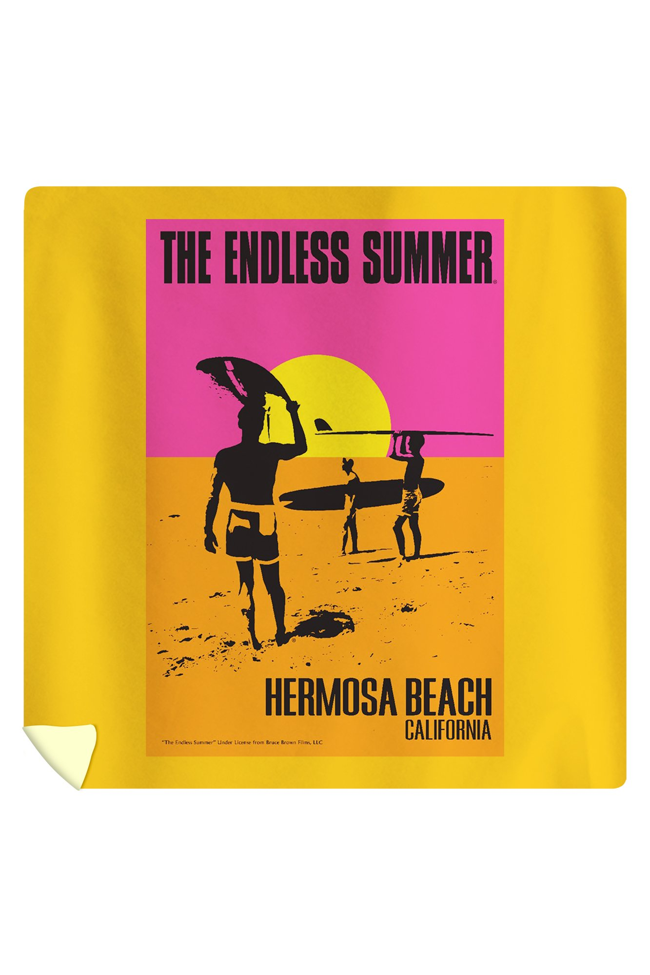 Hermosa Beach, California - The Endless Summer - Original Movie Poster (88x88 Queen Microfiber Duvet Cover)