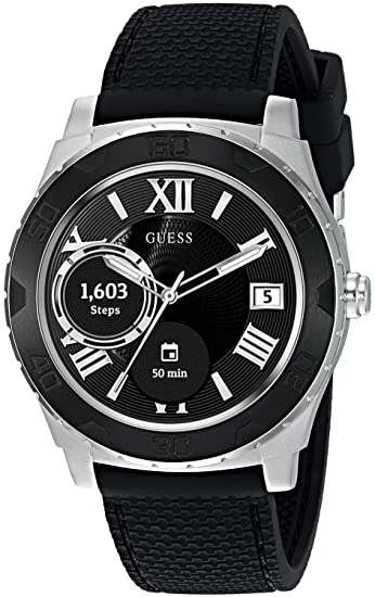 GUESS Mens Stainless Steel Android Wear Touch Screen ...