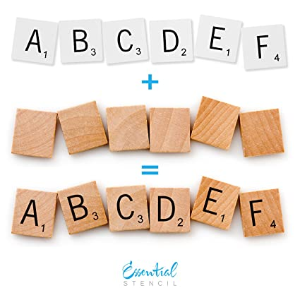 Amazon scrabble letters stencil set perfect for painting on scrabble letters stencil set perfect for painting on wood diy modern home decor calligraphy spiritdancerdesigns Gallery