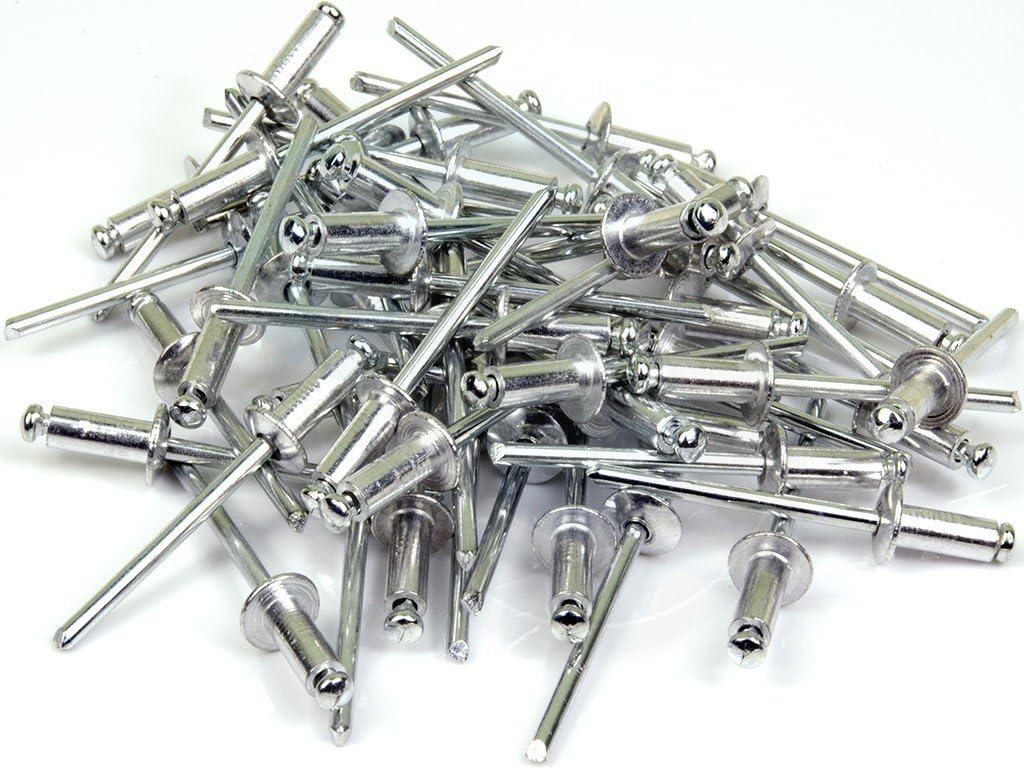 100pcs Metal M4 4x10mm Aluminum Steel Open End Blind Dome Head Pop Rivet Rivets
