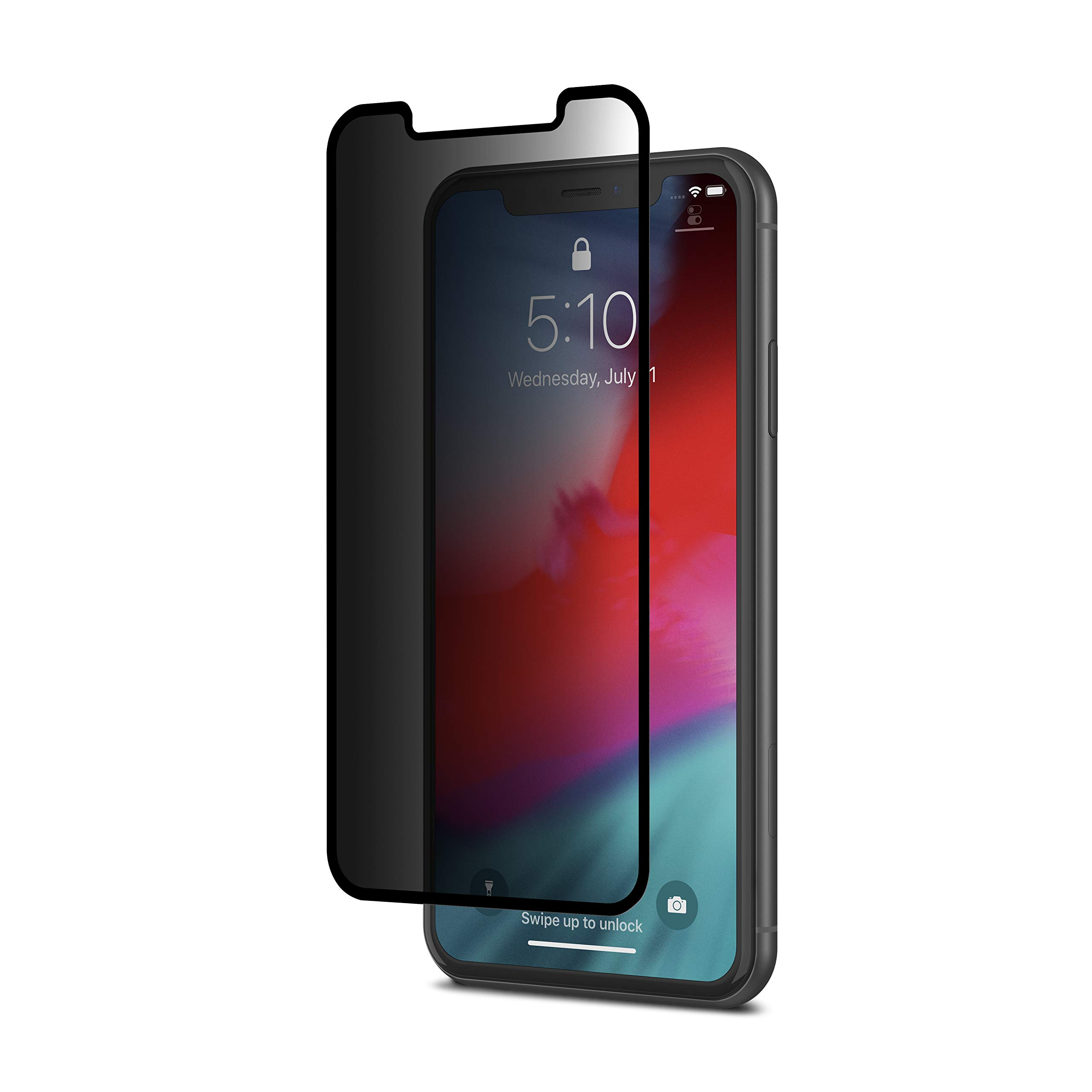 Moshi Ionglass Privacy Glass Screen Protector Compatible with iPhone 11/iPhone XR, Atomically-Strengthened, Stronger Than Tempered Glass, Exceptionally Thin by Moshi