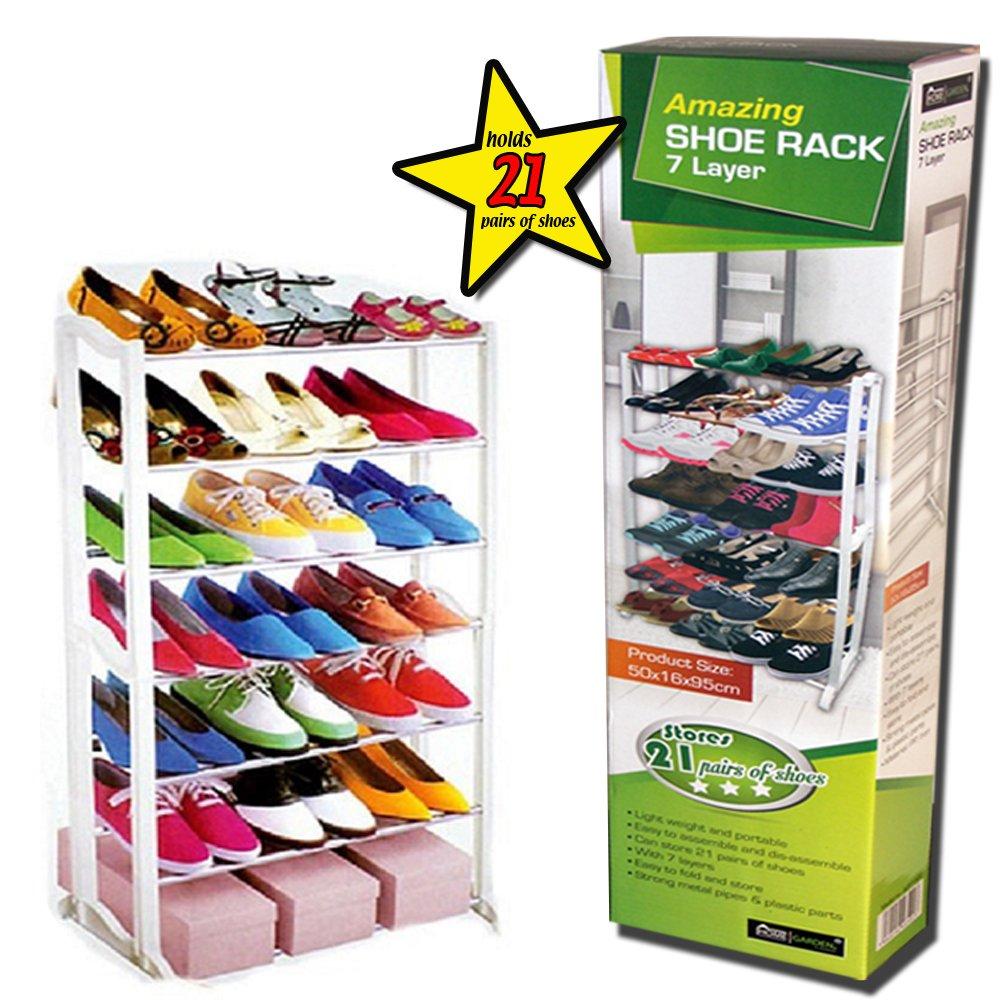 Guaranteed4Less Shoe Boot Shelf Rack Storage Tidy Organiser Cupboards Wardrobe Porch Door Garage