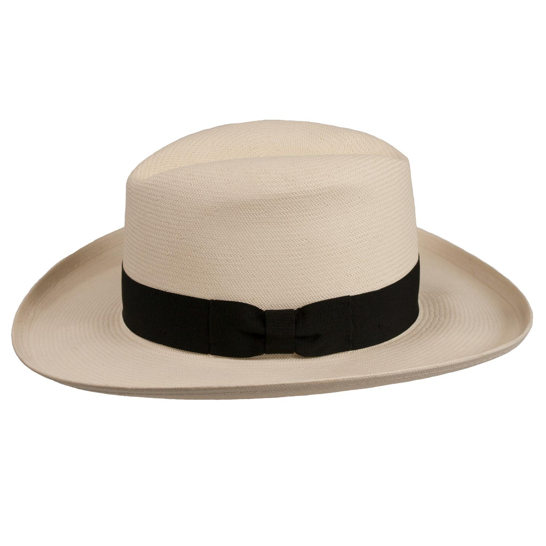 8d379bbf661f0 Levine Hat Co. Men s Homburg Panama Straw Dress Godfather Hat at Amazon  Men s Clothing store