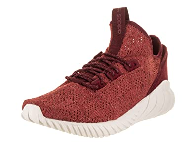 adidas Men's Tubular Doom Sock PK Originals Red/Burgundy/White Running Shoe  8 Men
