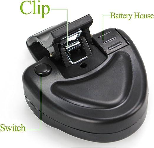 //LOT Electronic Fish Bite Finder Alarm LED Light Bell Clip On Fishing Rod Black