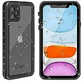 CEGAR iPhone 11 Waterproof Case 2019 Full Body Protective IP68 Underwater Shockproof Dirtproof Sandproof Waterproof Case for iPhone 11 (6.1') (Black/Clear)