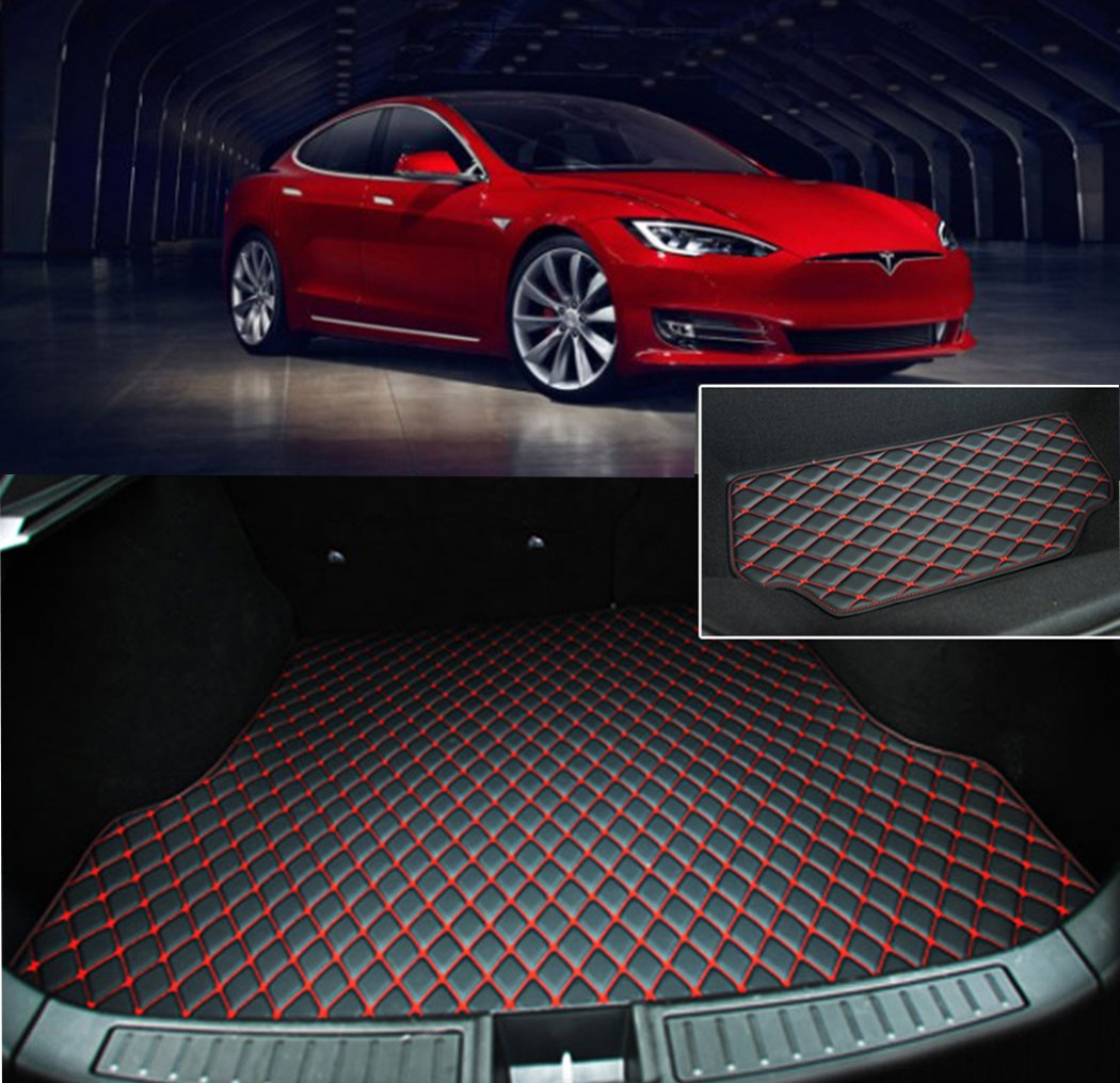 TeslaHome 2016-2018 Refresh Version Tesla Model S Front and Rear Trunk Mat (2 piece of a set) (Black) Tesla Home