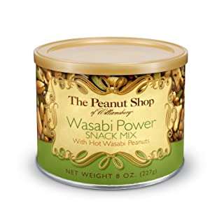 The Peanut Shop of Williamsburg Wasabi Power Snack Mix, 8-Ounce Tin