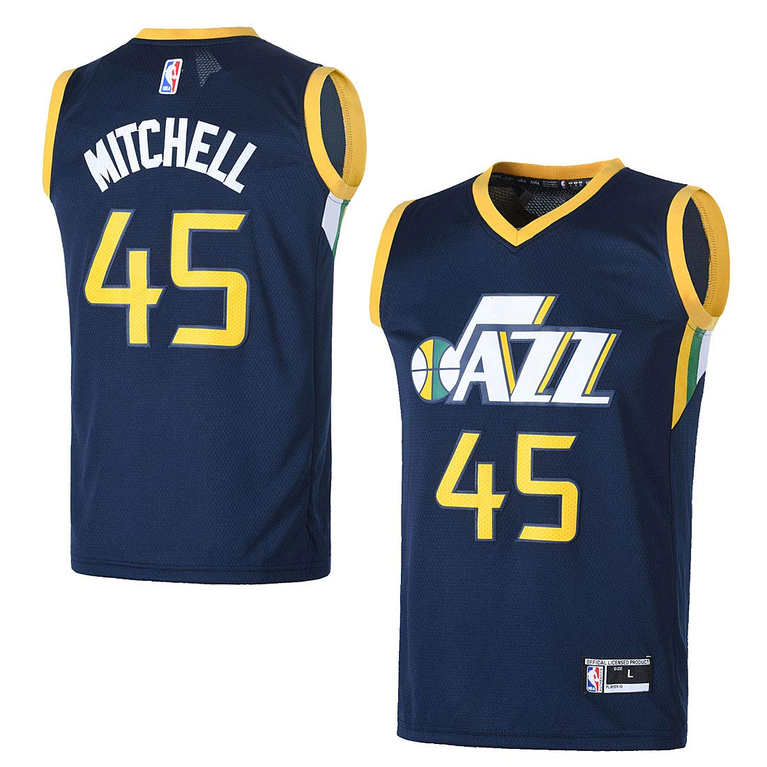 low priced bbc81 2d737 OuterStuff Youth Utah Jazz #45 Donovan Mitchell Kids Basketball Jersey