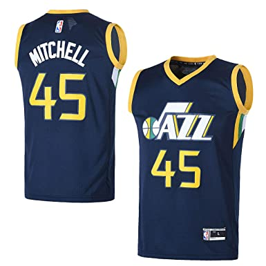 low priced f088d 5af82 OuterStuff Youth Utah Jazz #45 Donovan Mitchell Kids Basketball Jersey