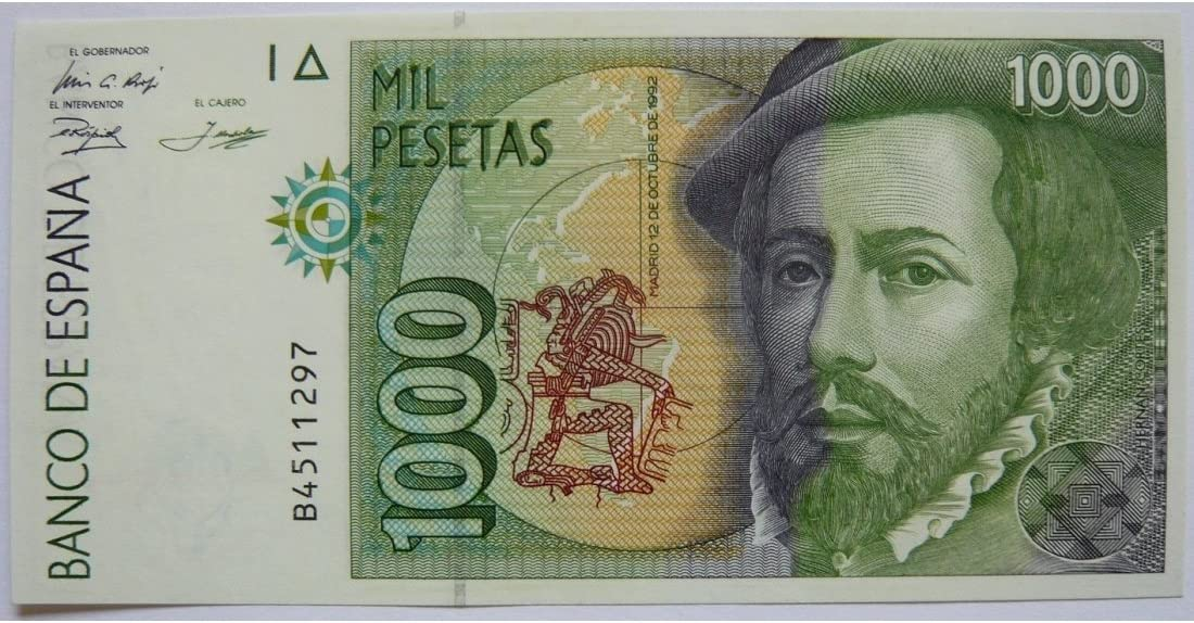Billete del Banco de España 1992 dedicado descubrimiento de America: Amazon.es: Juguetes y juegos
