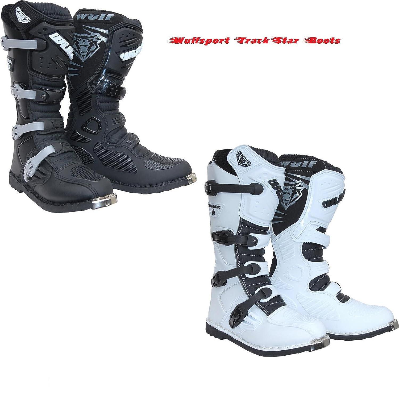 motorike Bottes Wulf trackstar motocorss de moto quad MX Racing Bottes Nouveau Mod/èle 2/couleurs Blanc blanc EU41//UK7