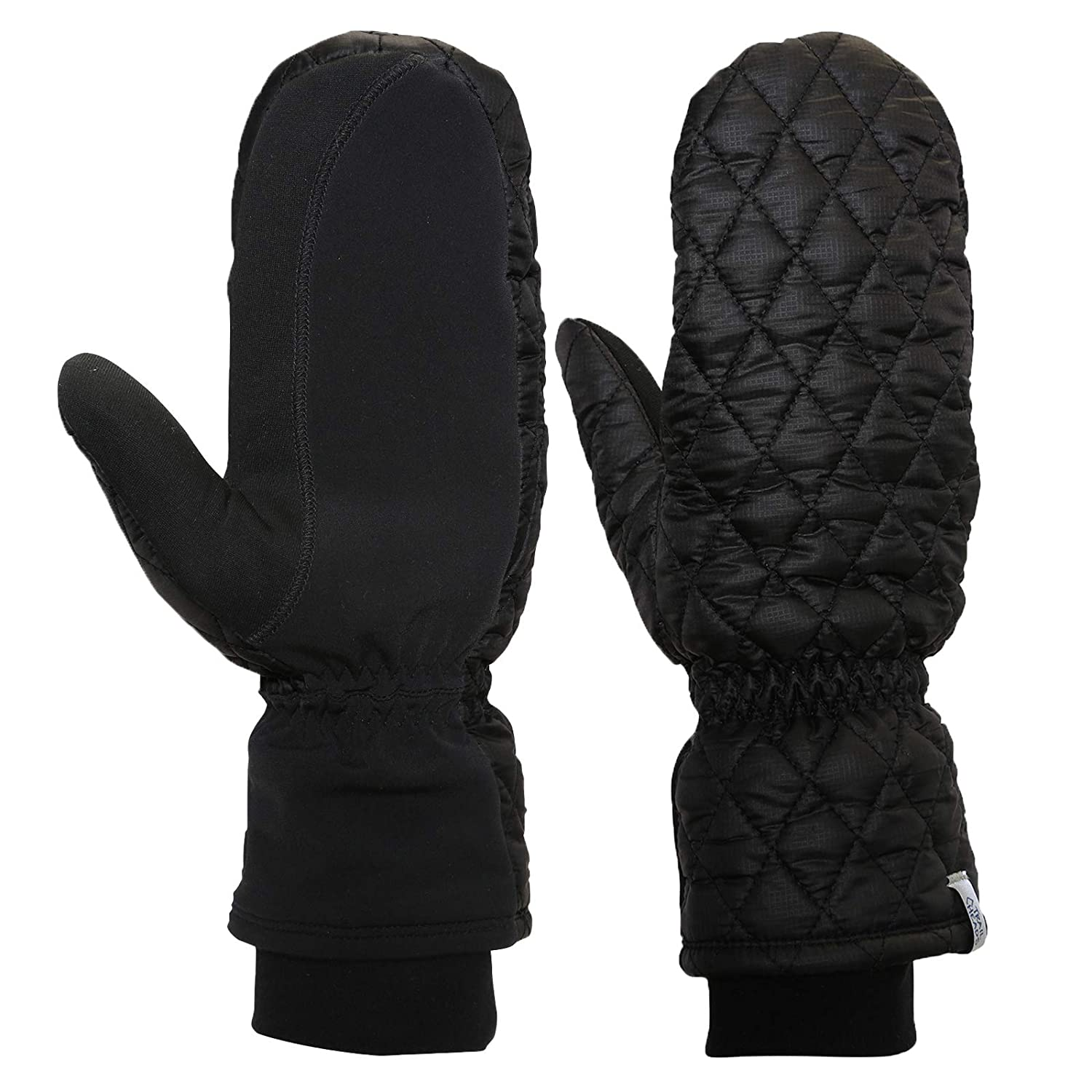 Insulated Hand Protection TrailHeads Touchscreen Quilted Running Mittens for Women