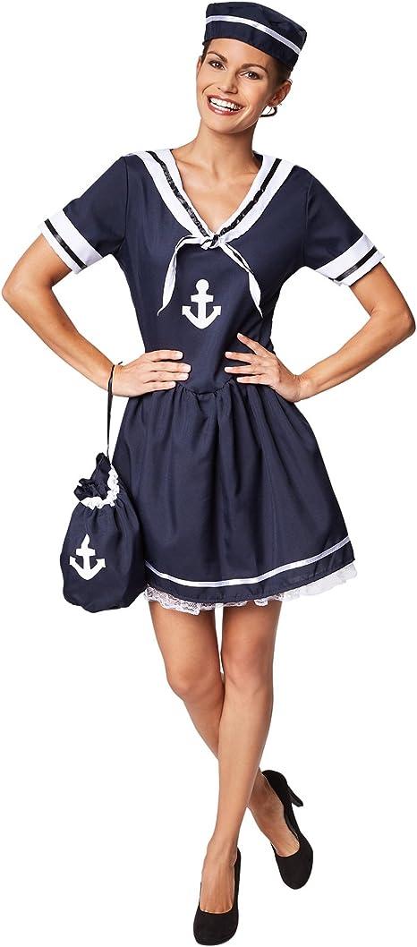 TecTake dressforfun Disfraz para Mujer de Esposa del Marinero ...