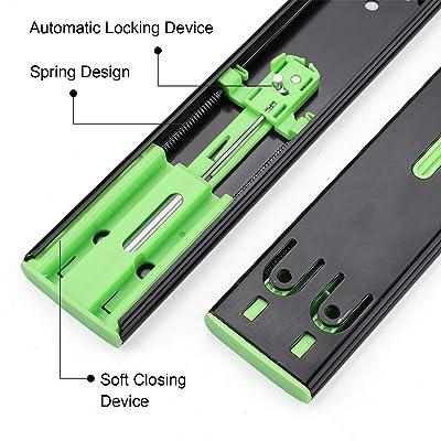 1 Pair Ball Bearing Cabinet Drawers Slide Laigoo Heavy Duty Drawer Slides 20 Inch Full Extension Drawer Slides