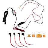 Micro USB Hardwire Kit with LP Mini/Mini/ATO/Micro2 Fuse 10ft Hard Wire 5V/2A Output for Car Motorcycle Charger Cable for Dash Cameras GPS Cellphone Dash Cam NuCam DL Battery Drain Protection