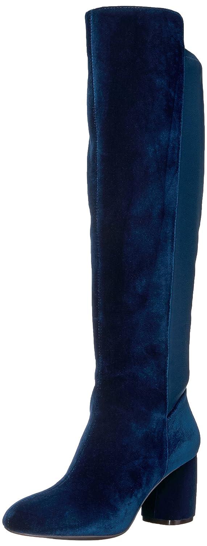 Nine West Women's Kerianna Knee High Boot B01ND48O72 8 B(M) US|Navy Fabric