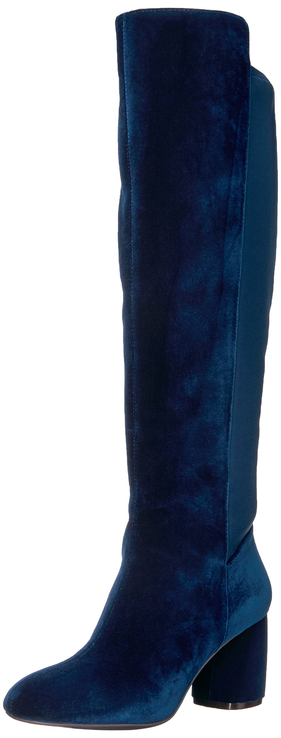 Nine West Women's Kerianna Knee High Boot, Navy Fabric, 9 Medium US