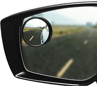 3 Inch Convex Blind Spot Mirror Aluminum Frame w//Adhesive Set of 2